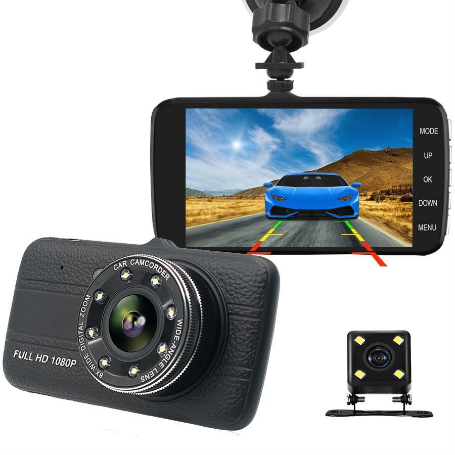 Car Dvr 4.0 Inch Dash Cam With Rear View Camera Full HD 1080P Dual Lens Video Recorder Auto Registrars Vehicle Dashcam