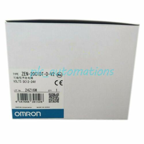 NEW OMRON ZEN-20C1DT-D-V2 RELAY CONTROLLERS DC 12 ANALOG CPU UNIT PLC MODULE