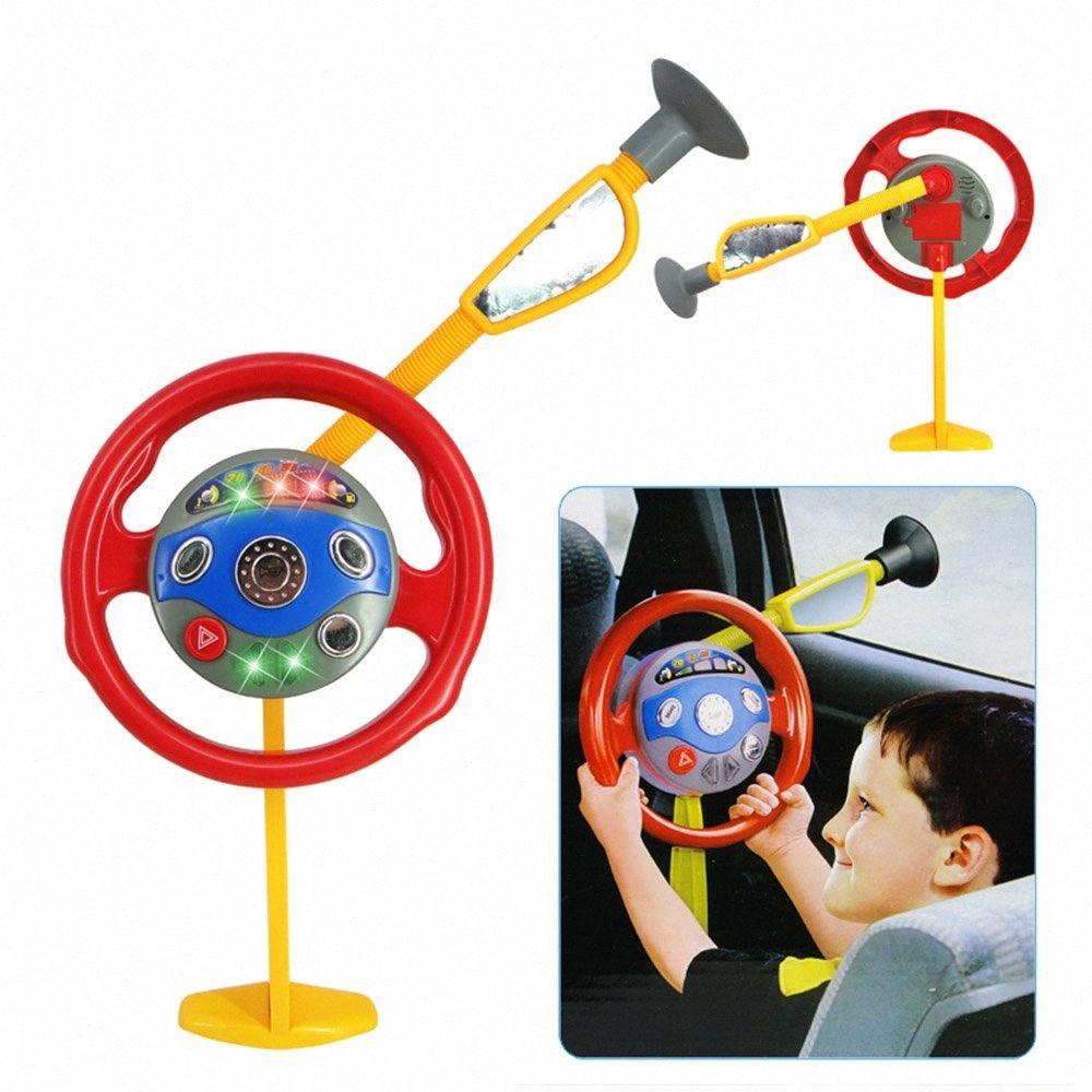 سائق الطفل الالكترونية المقعد الخلفي مقعد سائق السيارة الرضع عجلة القيادة لعبة أطفال قطرة الشحن iH3n #
