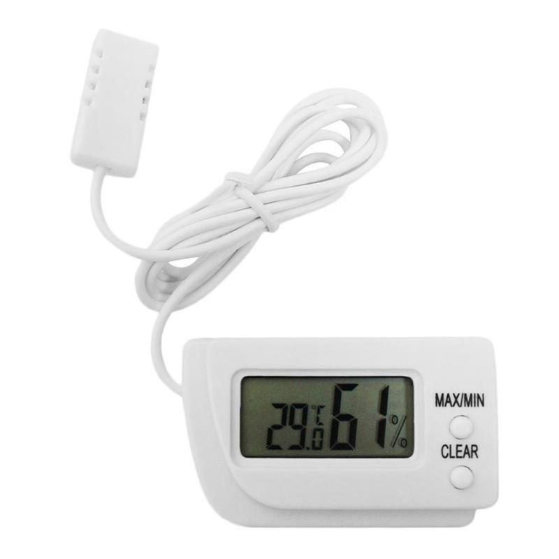 Nem Metre Mini LCD Dijital Yumurta Inkübatör Termometre Higrometre Uzaktan Ölçer Nem Sıcaklığının Ölçümü