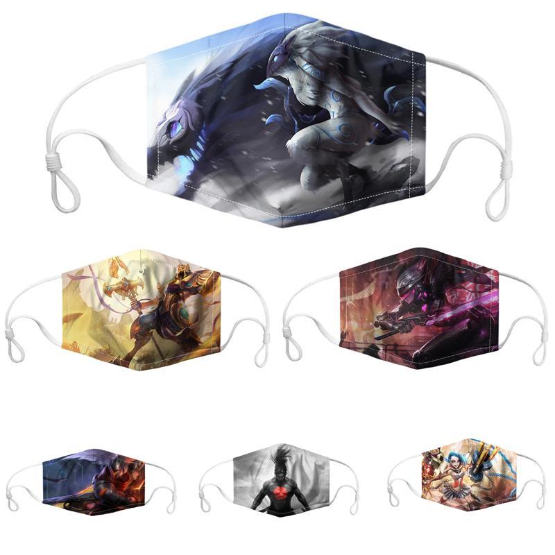 Gesichtsmaske Halloween-Mode-Gesichtsmasken der Frauen der Männer facemask staub- atmungsaktiv waschbar Masken verstellbare Ohr Tasten atmungsaktive Maske