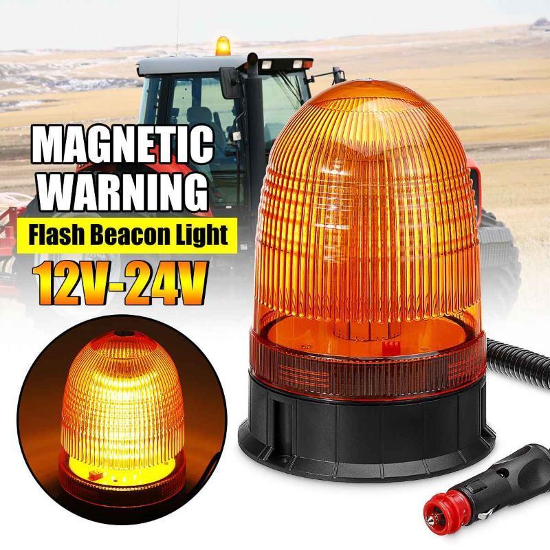 3 Mode LED Magnetic Car Truck Strobe Light Flashing Warning Beacon Lights Circular Signal Security Alarm Trialer Vehicle Boat