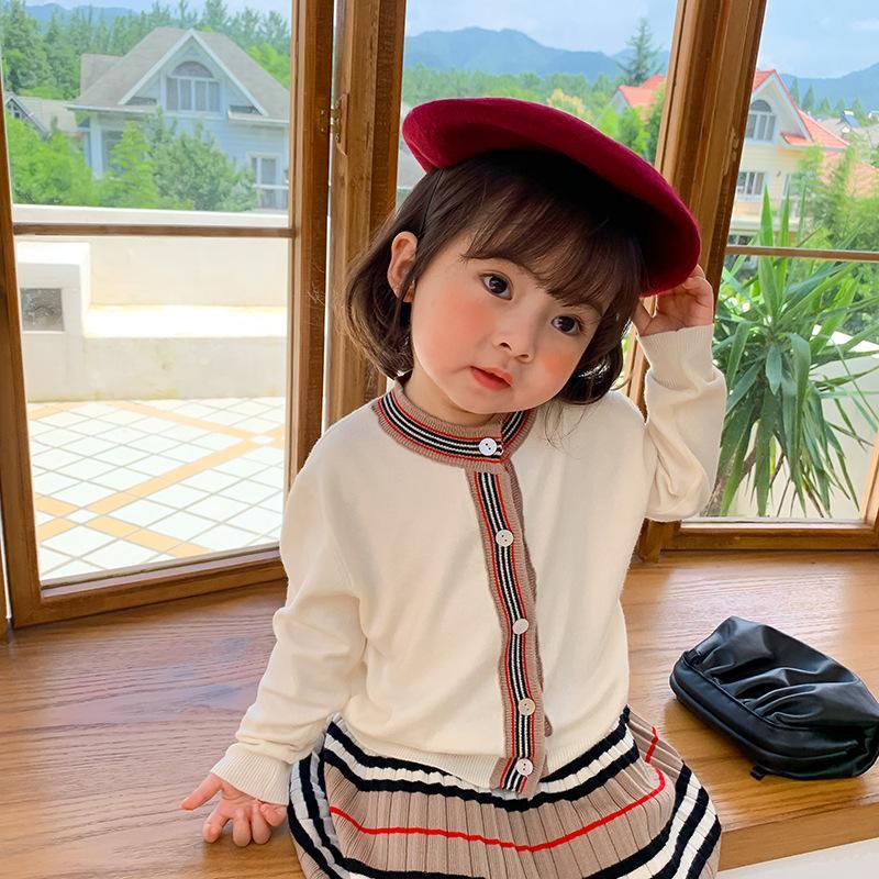 Milancel 2020 Automne Nouveaux Girls Vêtements Ensemble de filles Pull et jupe plissée 2 PCS Enfants costume filles Outfit x0923