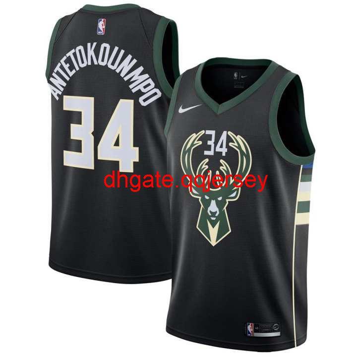 La ropa de baloncesto ropa estilo de la estrella 2020 Declaración Negro Giannis Antetokounmpo # 34 de los hombres de ClothesJersey