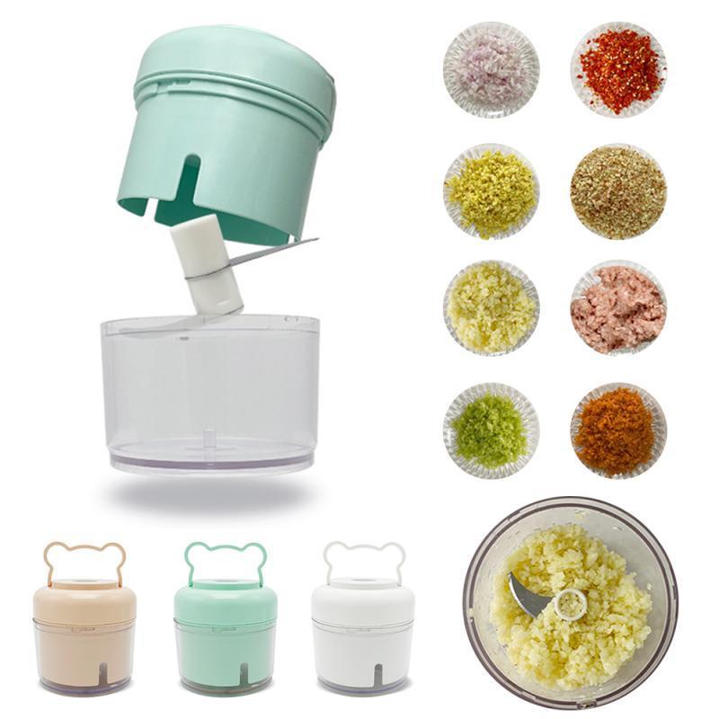 Household Mini sem fio Alho elétrica Imprensa vegetais Ferramentas Squeezer Masher Crusher Handheld Ginger Para Casa Cozinha