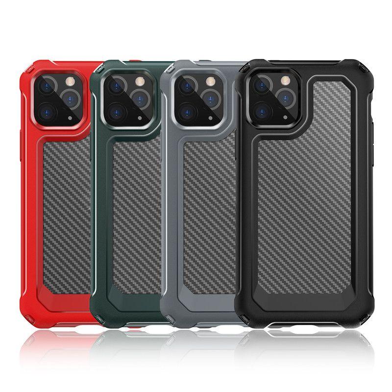 وصول جديدة من ألياف الكربون ضد الصدمات القضية لمدة 12 XS برو 11 ماكس XR 6 7 8 زائد كريستال شفاف الهاتف المحمول حقائب