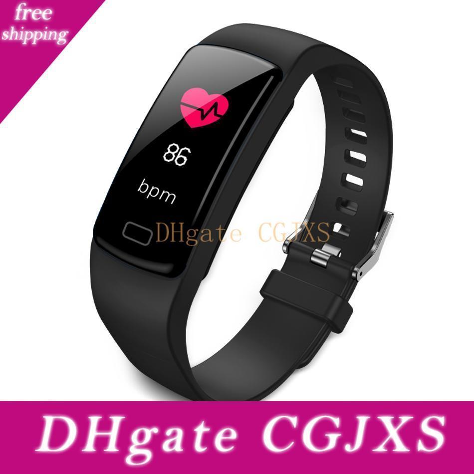 Taxa Y9 de Fitness Rastreador inteligente Pulseira atividade cardíaca Watch Band Monitor de Pressão Arterial pulseiras para Smartphones Smartband Com Box