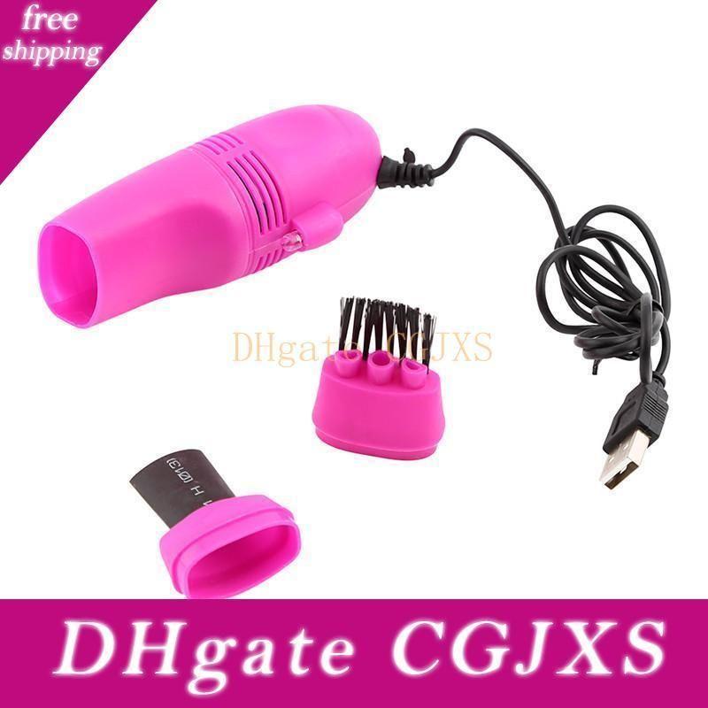 Universal Mini USB Vacuum Cleaner Teclado poeira Máquina Dust Brush Cleaning Kit para PC 5colors laptop frete grátis