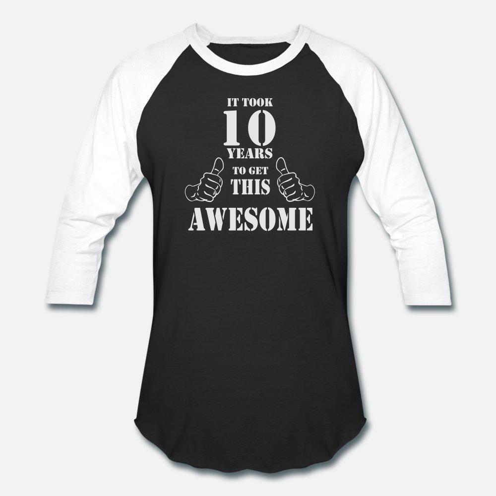 10 ans Get Impressionnant Made En 2007 t shirt homme Customize coton ras du cou normal anti-rides New Mode Printemps Automne Famille chemise