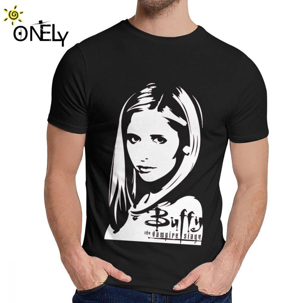 Cuello redondo Buffy The Vampire Slayer1 Camiseta nueva llegada para los hombres 100% algodón diseño de la camiseta para unisex