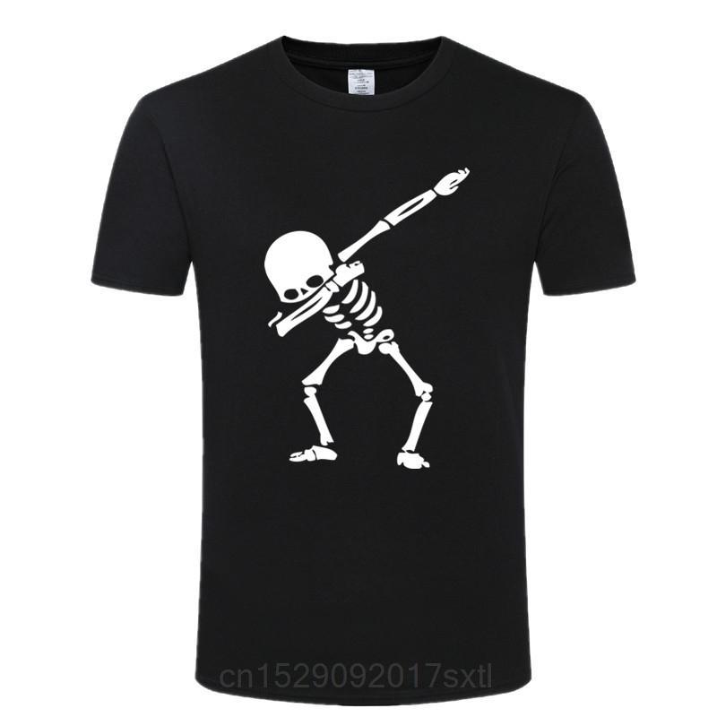 Cotone di alta qualità divertente Skull maglietta 100% manica corta casuale O del collo uomini maglietta nera soft Estate T-shirt Camicie Uomo Tee