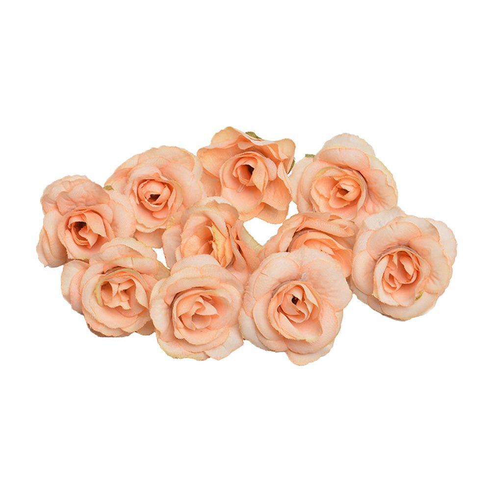50PCS decorazione Wedding falso della Rosa del fiore artificiale leggero testa DIY floreale