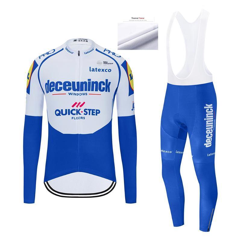 Квикстеп зима 2020 термальной ватки велоспорта Комплекты MTB велосипеда одежды мужчины Ропа Ciclismo спортивная одежда трико
