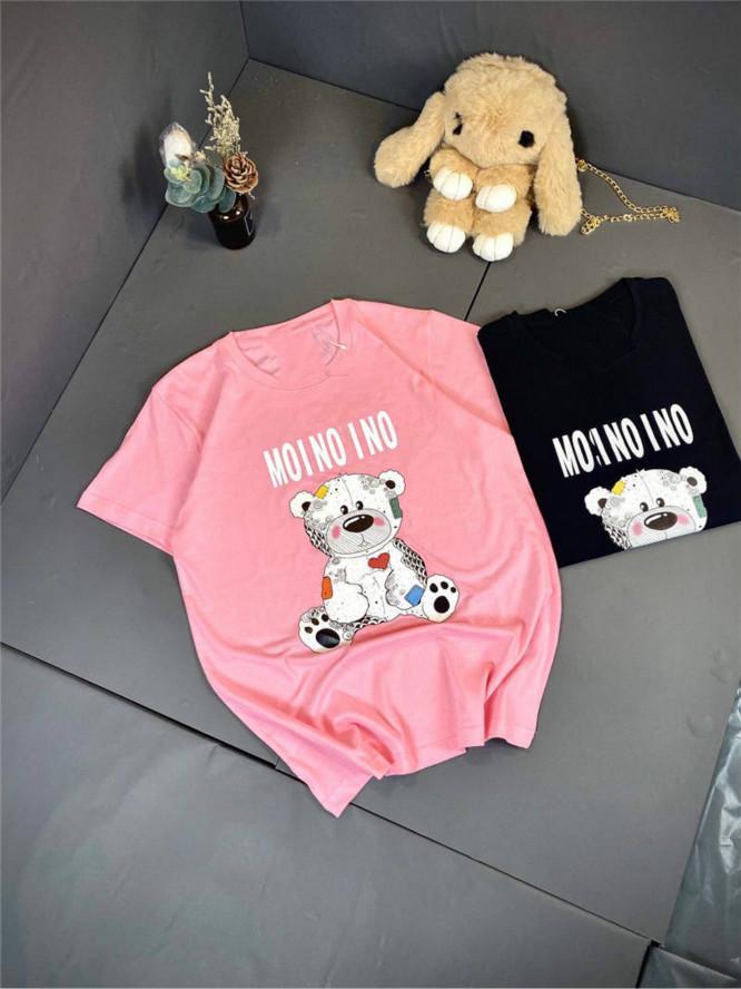 2020 Kadın T Gömlek Yaz Tees Unisex Yumuşak Tişörtler Beas Desen Boyun Casual Kadınlar Erkek Tees Uzun Giyim S-XL