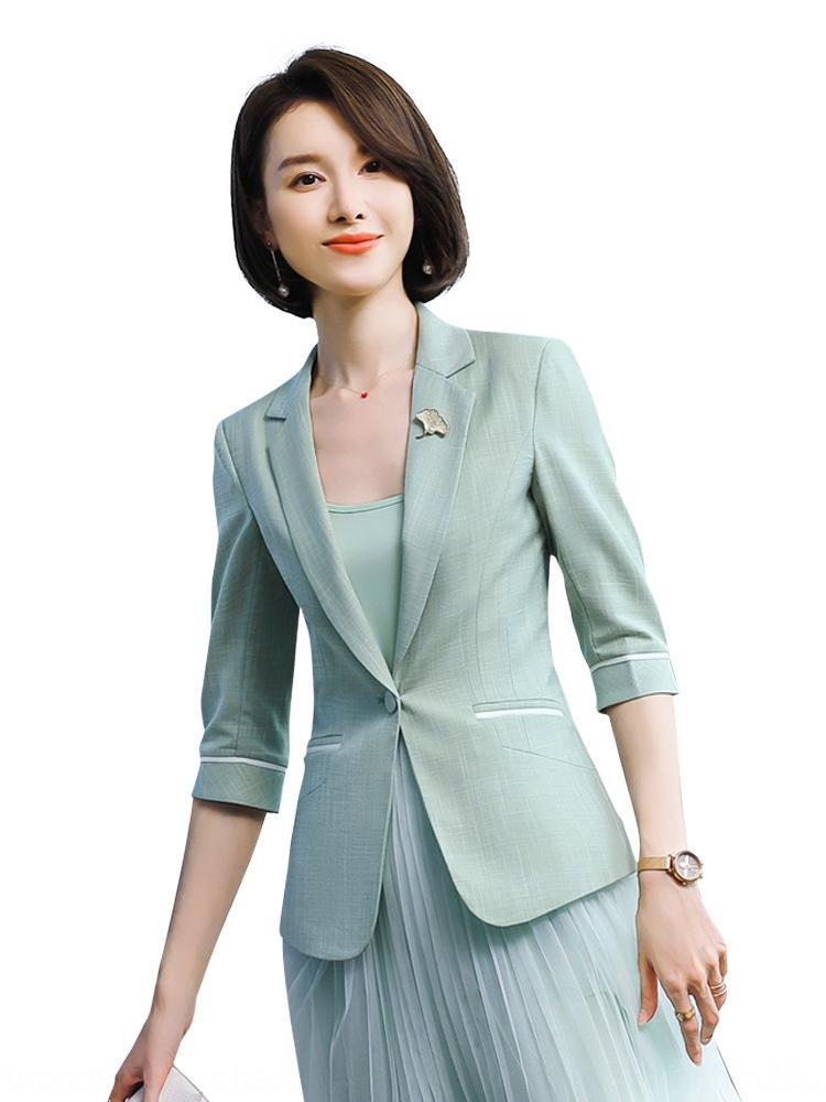 Koreli Coat ceket 2020 yeni Internet ünlü moda küçük gündelik elbise üst iş takım için 0mQDn Kadınlar tarzı yeşil