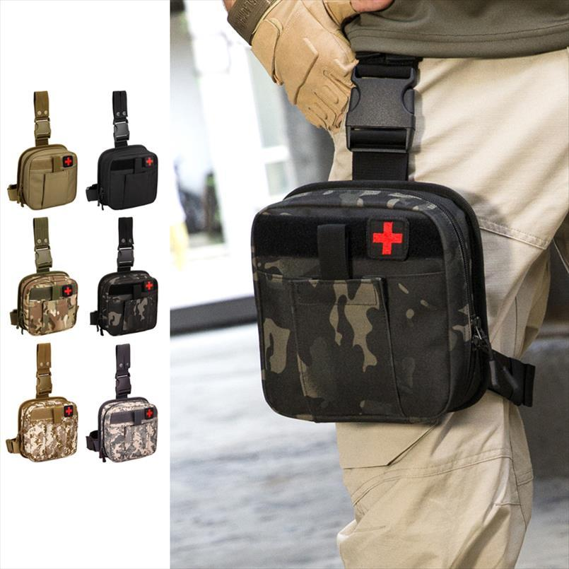 New Men Nylon Belt Pack Bags Purse Hip Bum Accessory First Aid Waist Molle Sundries Military Tactics Fanny Leg Drop Medical Bag