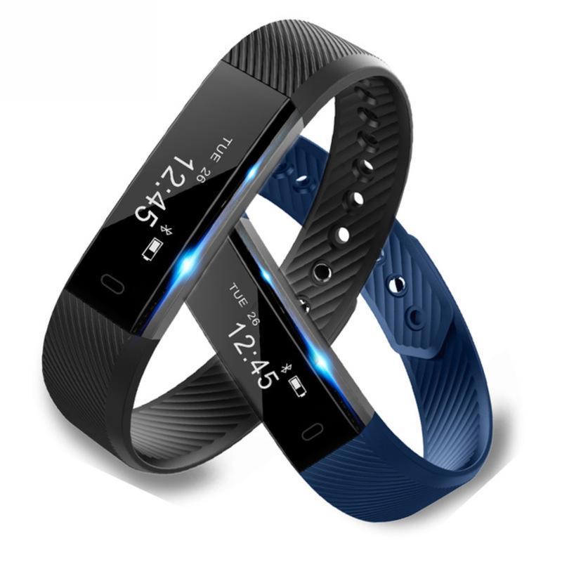 ID115 Bracciale intelligente Banda Step Counter fitness SmartBand sveglia vibrazioni Wristband pk ID107 forma morse miband2 Guarda Cuore