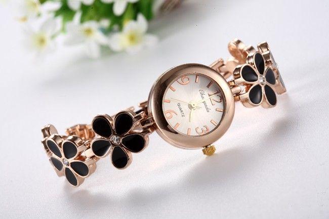 Роскошные Цветочный Кристалл браслет наручные часы Женские часы Мода женщин часы Женские часы Часы баян кол- Saati Релох Mujer