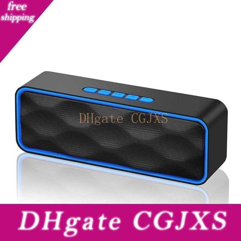 Haut-parleur Bluetooth Colonne portable Bluetooth haut-parleur avec Mic Music Box modèle de soutien Tf Aux Radio Fm pour Smartphone PC