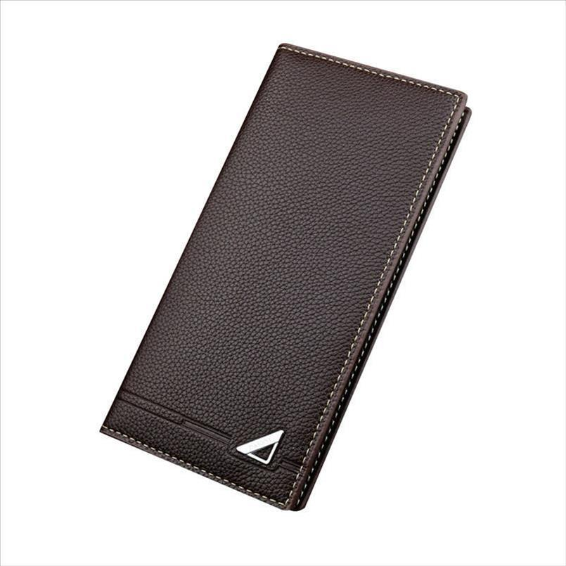 Cartes Portefeuilles Mode Mini Soft Purse Sac Money Carte durable pour Pu Porter des sacs anti-monnaie Porte-hommes Long Homme 18.5x9x1.8cm KDSQX