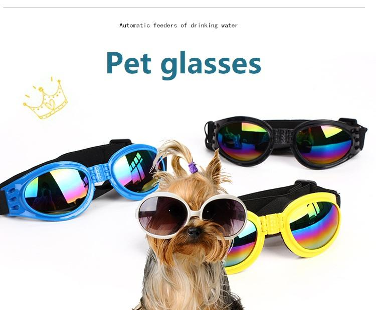 Dog Glasses Fashion Foldable Sunglasses Medium Large Dog Glasses Big Pet Waterproof Eyewear Protection Goggles Uv Sunglasses Jxw148