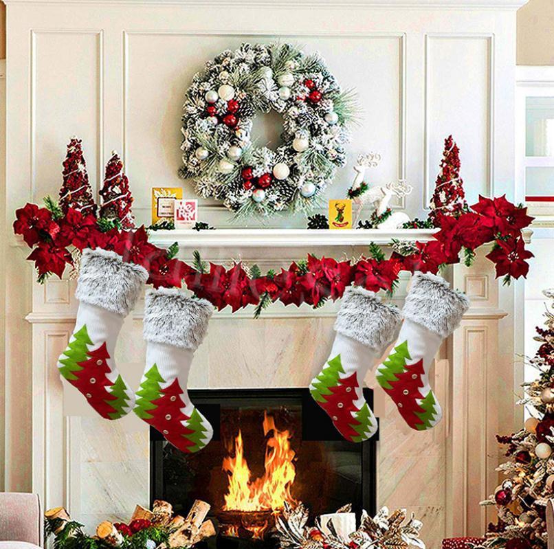 Noel Süslemeleri Noel Ağacı Desen Şeker Çorap Noel Hediyesi Çantası Şeker Çanta İç Dekorasyon Kolye Da900