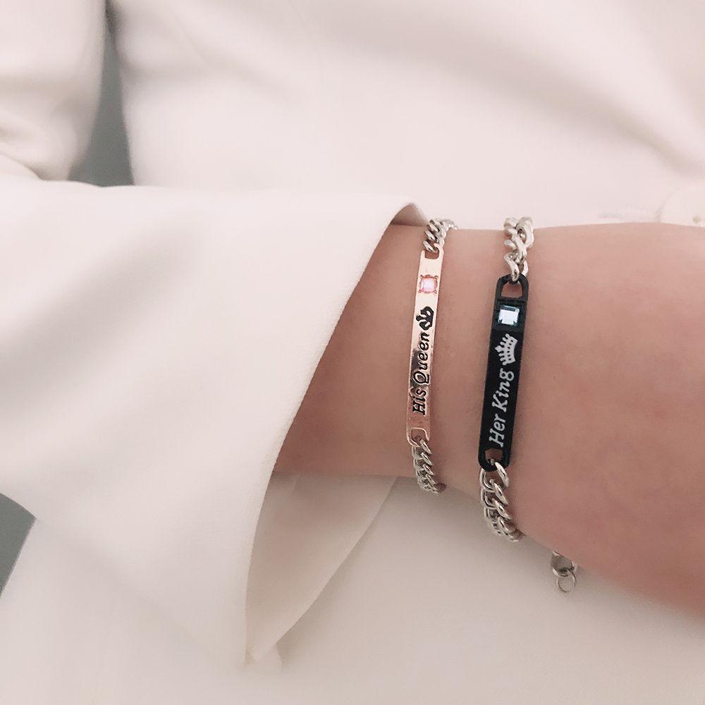 Горячие продавая женщина браслетов ювелирных изделий аксессуаров Пар сплав цепь браслет способ ювелирных изделия браслеты Набор Буквы бриллиант