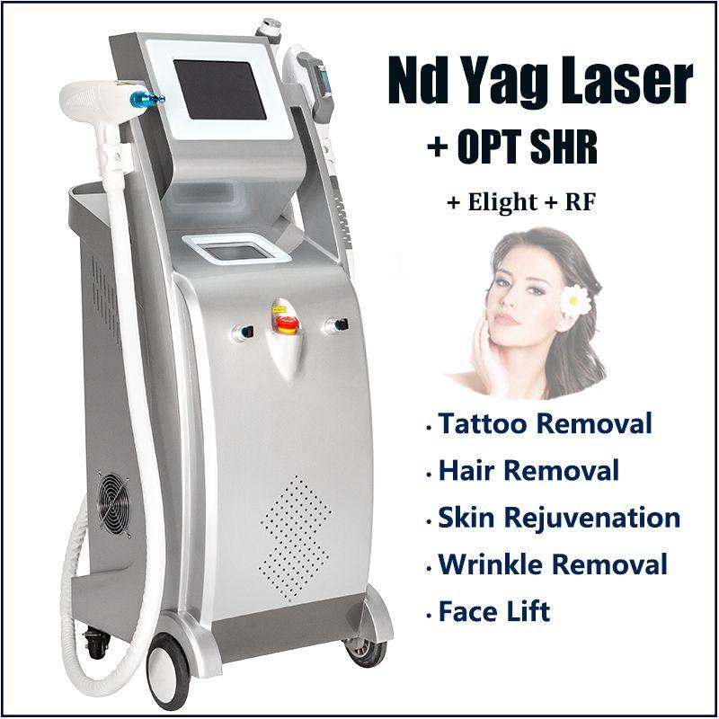 Multifunzionale lifting grinza rimozione macchina serraggio facciale IPL RF con 3 teste di diverse dimensioni per viso, collo, trattamento corpo