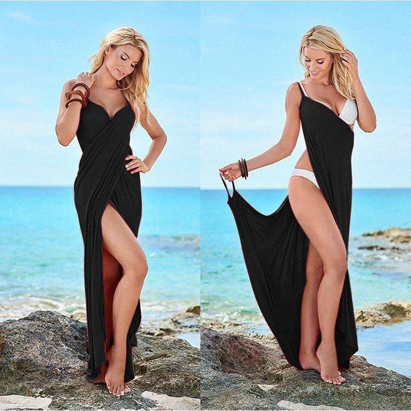 Plus Size Cover Up Warp Pareo Kleider Handtuch Backless Badebekleidung Frauen-Strand-Kleid Sexy Sling Beach Wear-Kleid-Weiß-Kleider für Junioren mZ80 #