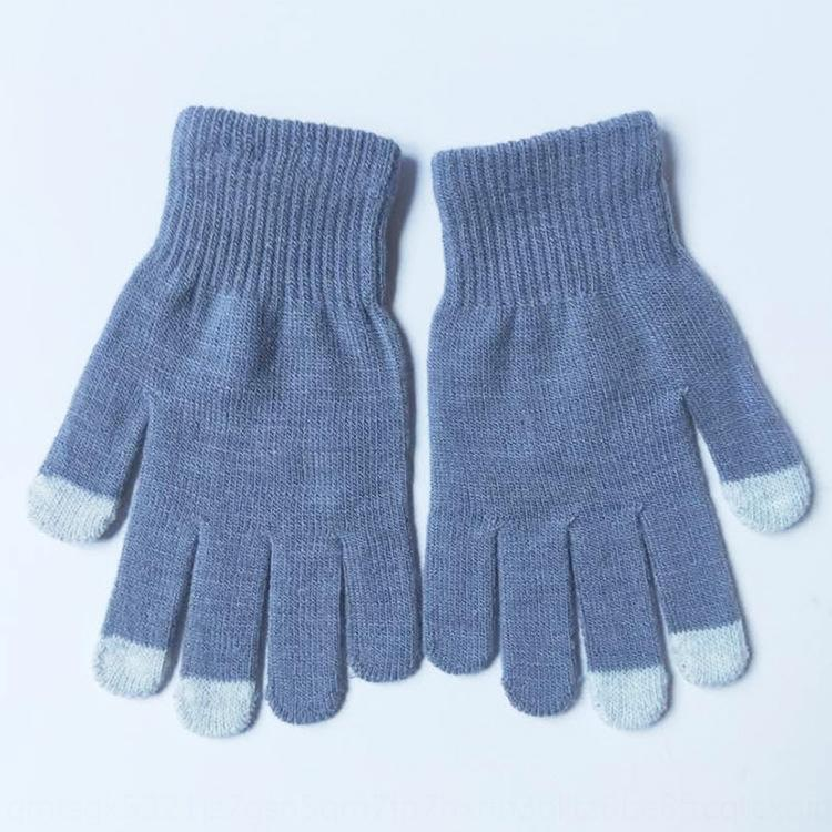 Sonbahar ve Kış yeni dokunmatik ekranlı Sıcak ve eldiven sıcak örme beş parmak dokunmatik ekran eldiven profesyonel