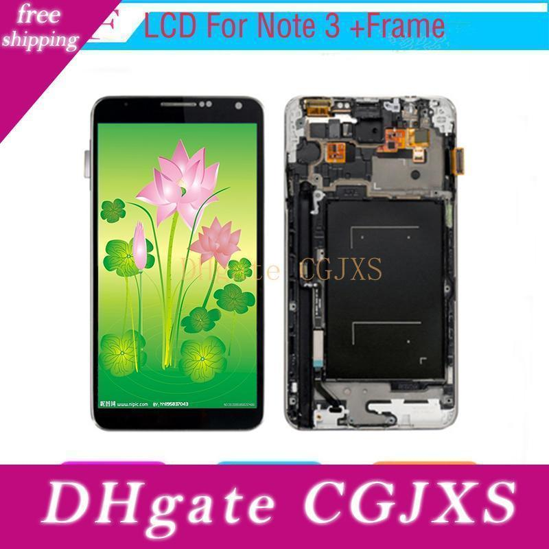 10 Pcs Lcd Display For Samsung Galaxy Note3 N900 N9000 N9005 N900a Lcd Touch Screen Digitizer Assembly Replacement Brightness Adjusted