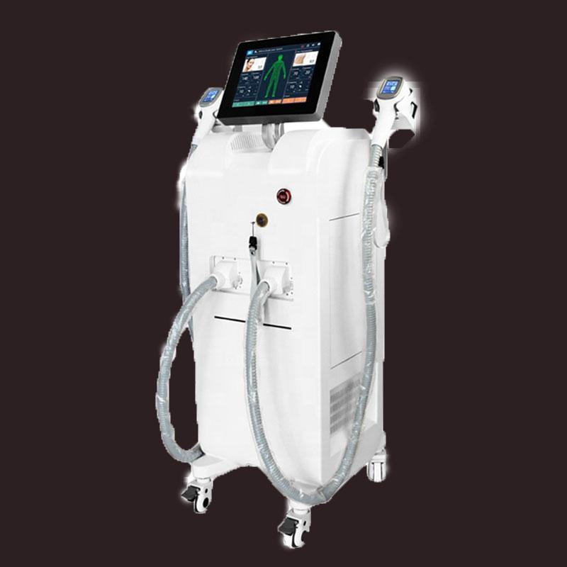 beauté salon avec deux épilateur professionnel laser prix usine poignée 808nm épilation permanente 755nm 808nm 1064nm épilation laser