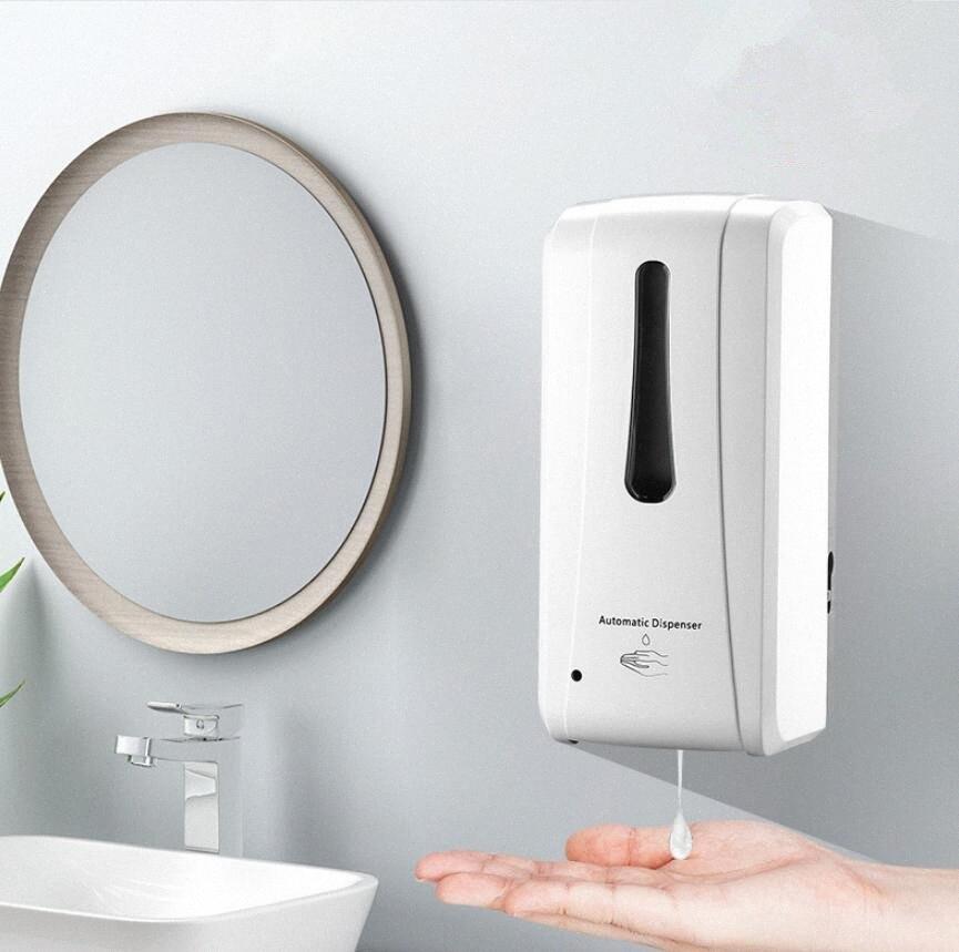 1000ml Wall mounted dispenser liquid hand sanitizer Automatic sensor soap dispenser Smart touchless bathroom hotel Dispenser FFA4312 eMVu#