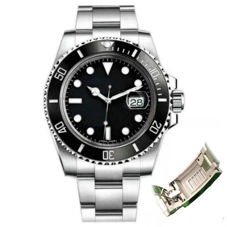 Glide Lock Black Ceramic Bezel 2020 New Mens Mechanical SS 2813 Automatic Movement Watch Designer Sports Fashion men Watches Wristwatches