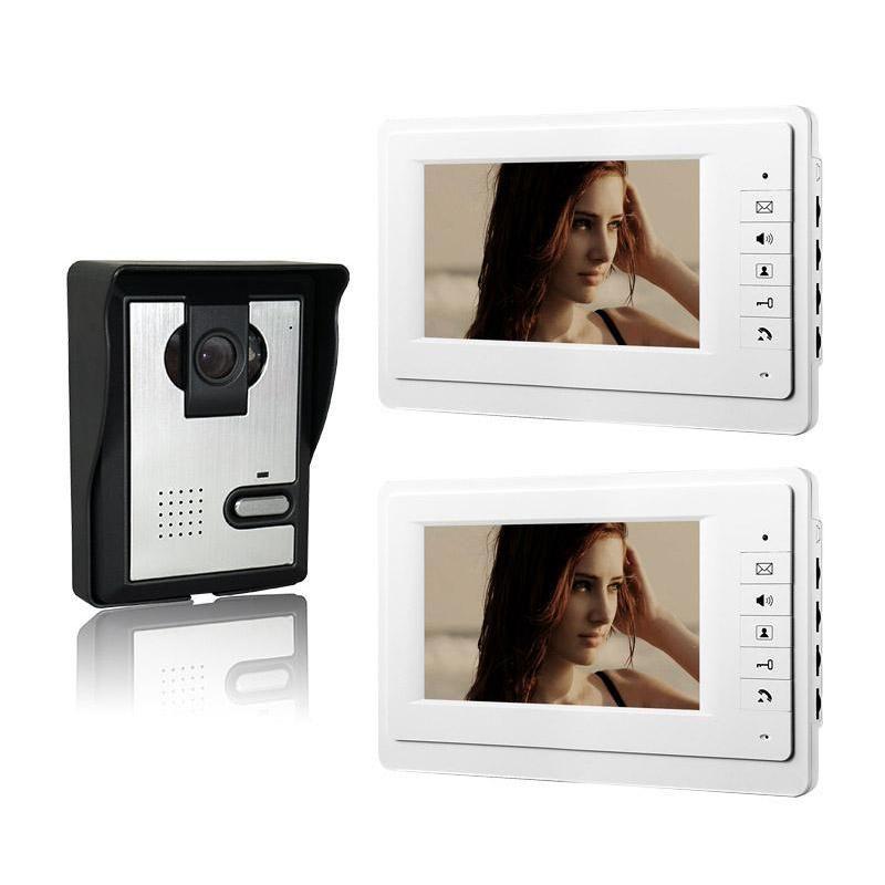 cgjxsXinsilu 7 inç Renkli interkom Kablolu Görüntülü Kapı Telefonu 1V2 video citofono Ev İnterkom Sistemi V70f -L 1V2