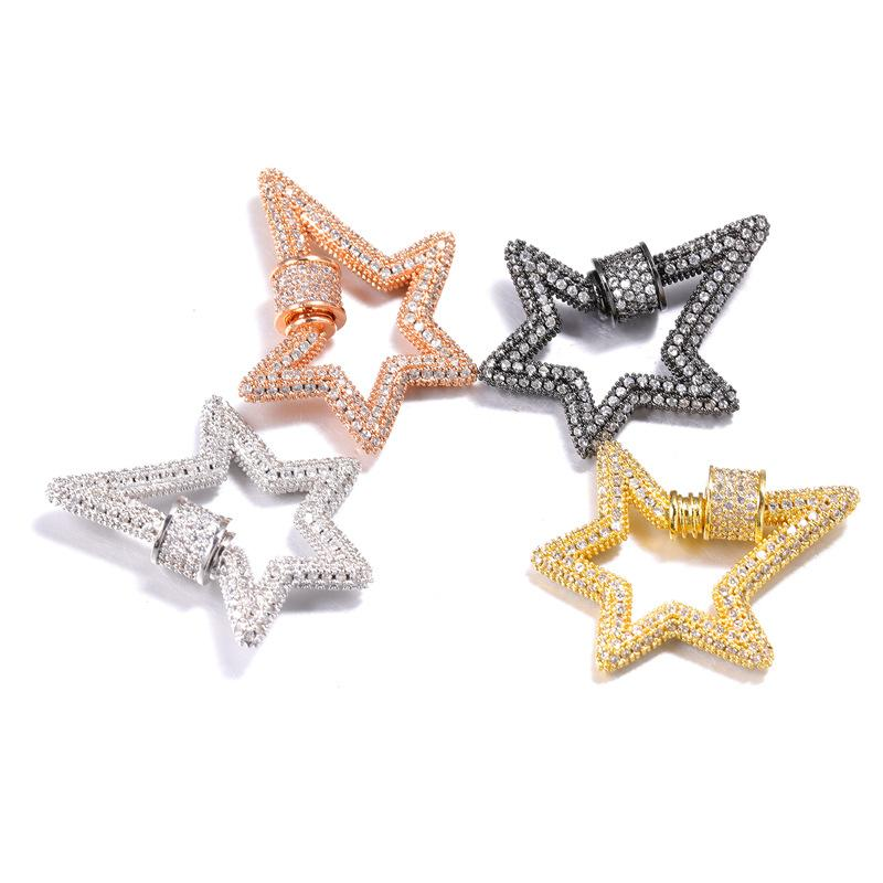 Borse Chiusure maniglia stella clip in metallo Chiusure Moschettoni Bag Portachiavi portachiavi Borsa Accessori