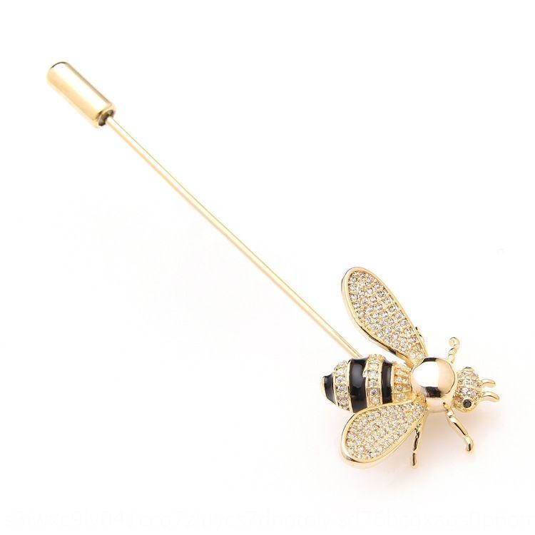Micro-incrustées abeille Broche châle simple zircon style coréen accessoires broches col accessoires pour femmes pin wxrYq