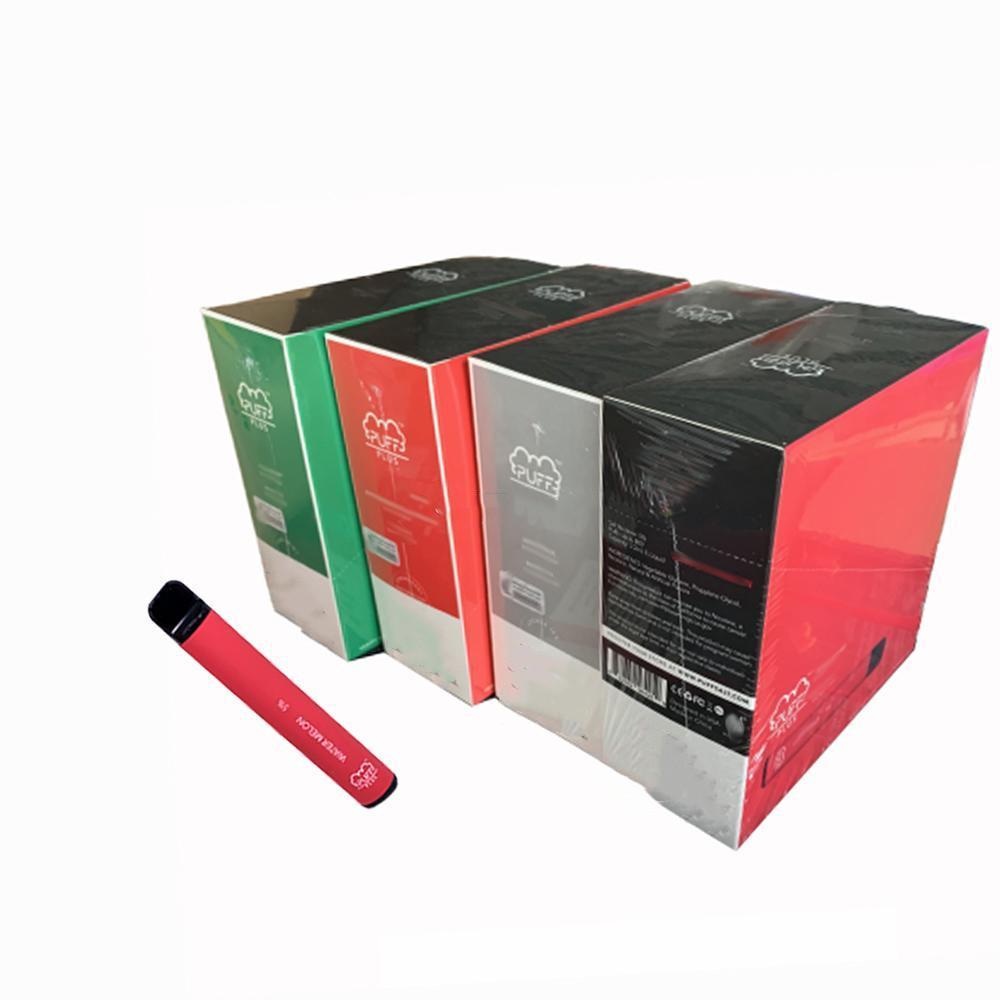 고품질 일회용 펜 Vapes 포드 퍼프 플러스 스타터 키트 카트리지 포장 PUFF BAR 550mAh 배터리 3.2ml 용량 보안 코드