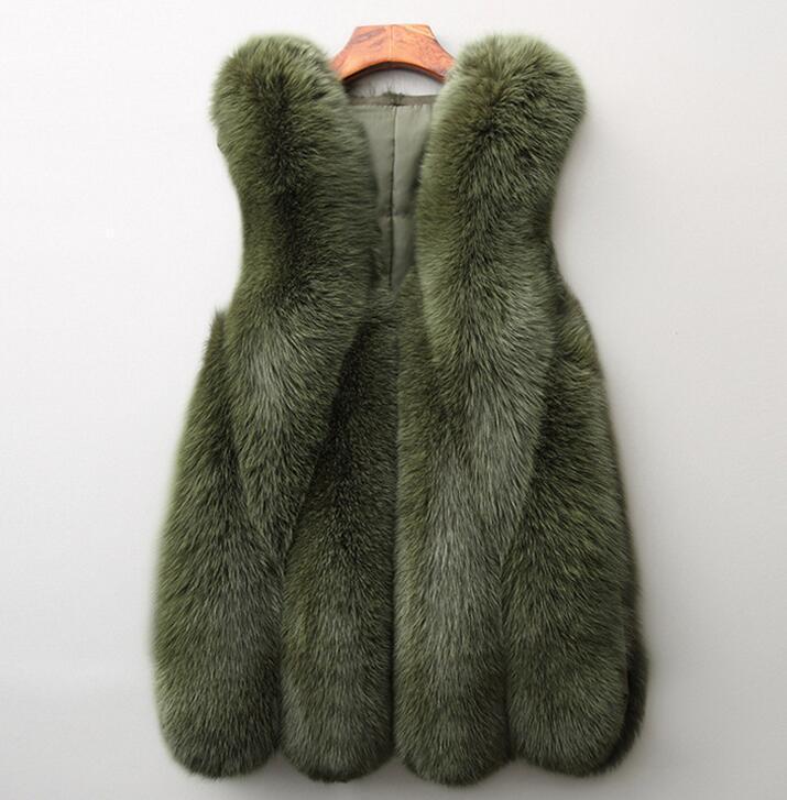 Pelz-Weste Frauen outwear Jacke 2020 warme verdeckter Knopf Fauxpelzen Wintermantel Frauen Normallack sleeveless vestidos BCD1507209