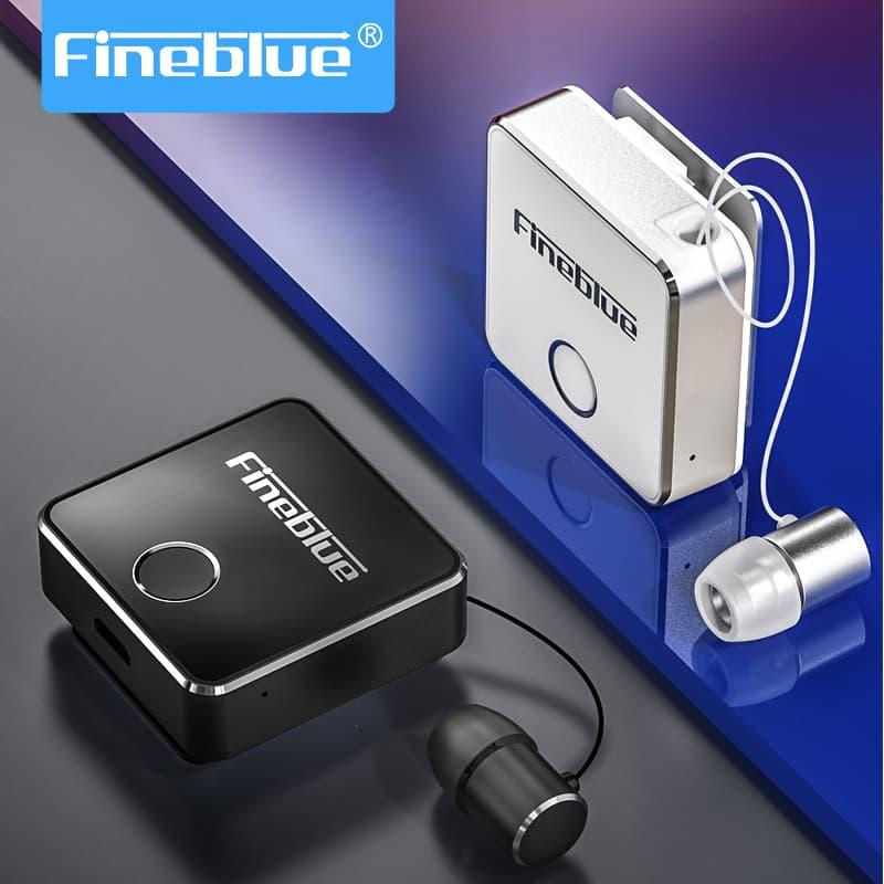 Fineblue Wireless Bluetooth Earphones F1 Withmic Hifi Handsfree Headset TWS Clip for Android Hi Res Noise Cancelling Mini