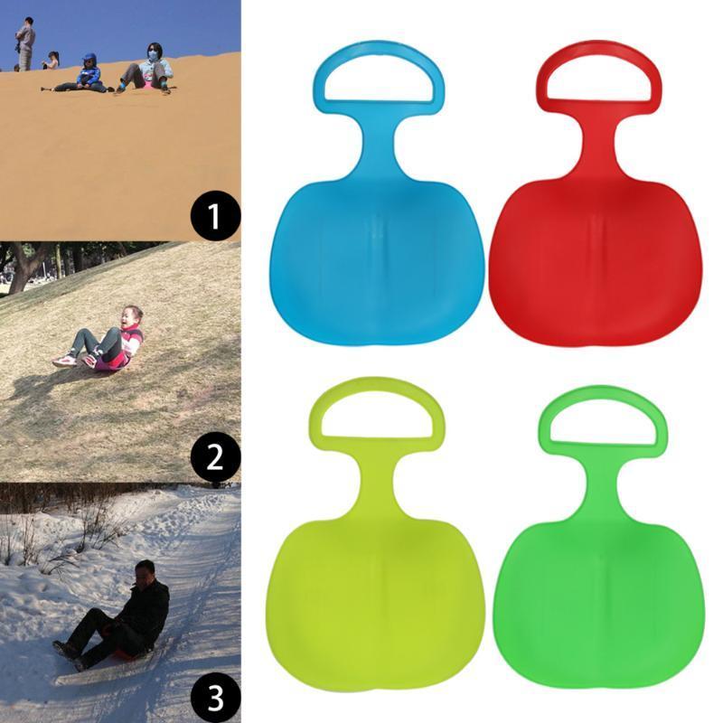 Outdoor-Winter-Kunststoff-Ski Boards Schnee Gras Sand Brett Ski Pad Snowboard Schlitten Rodeln für Kinder / Erwachsene