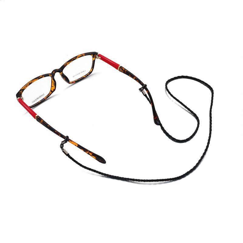 30pcs / Lot Reading Glasses Женщины PU Twist очки Веревка очки Стропы Цепи для очков без падения Eyewear листок бумаги с поправками к патенту, прикрепленный к патентному описанию Аксессуары 11 цветов