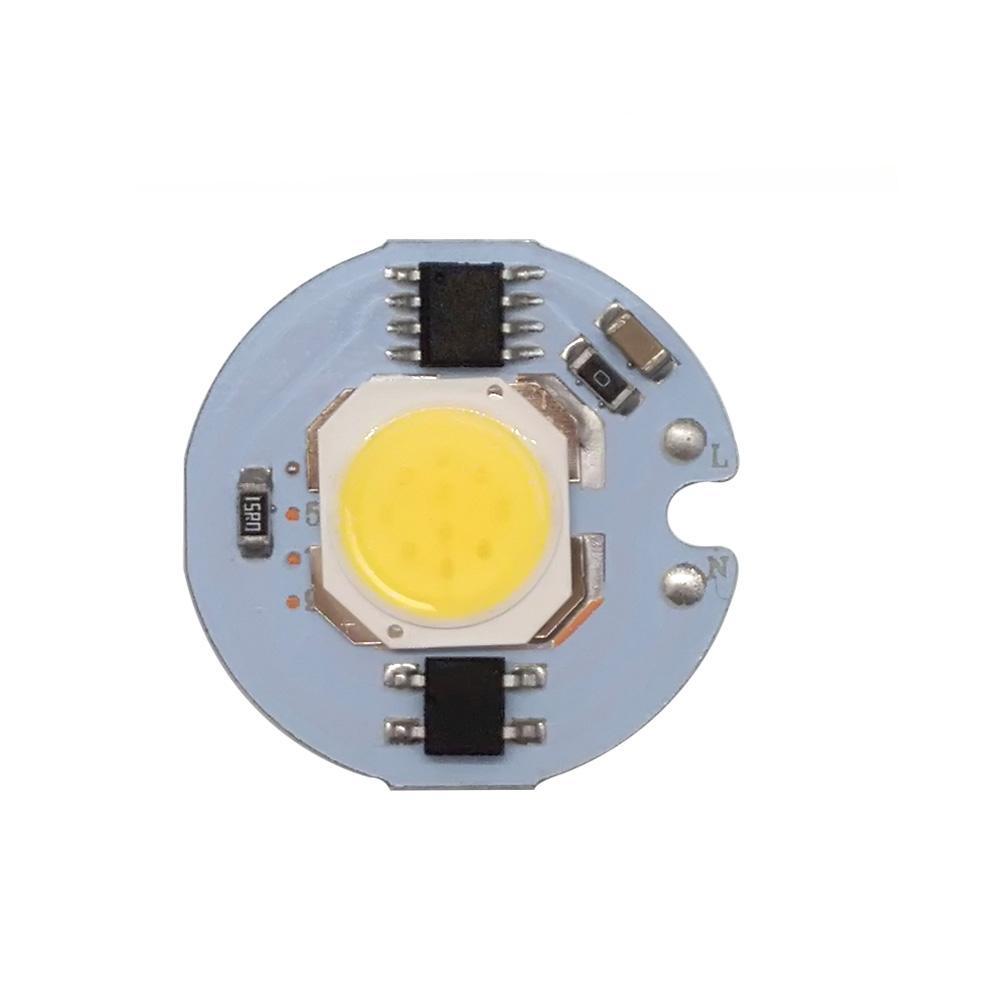 5 قطعة / الوحدة led cob رقاقة ضوء 9 واط 7 واط 5 واط 3 واط 220 فولت الإدخال الذكية ic سائق ضوء الخرز ل diy أضواء كاشف
