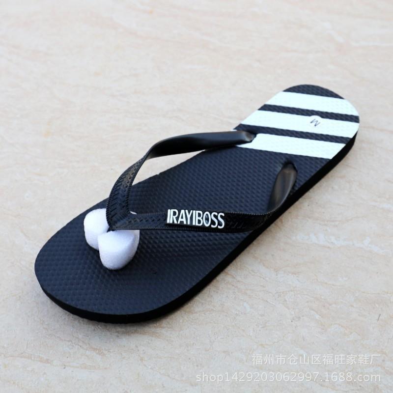 Yaz yeni terlik flip-flop üç çubuklu kauçuk flip-flop kişiselleştirilmiş moda basit plaj düz tabana vurma çift terlik