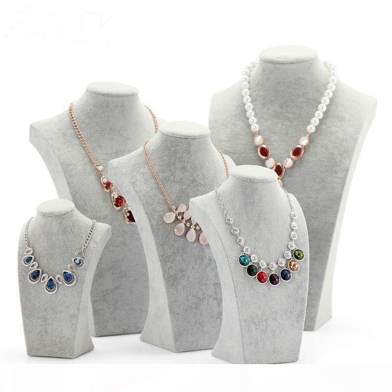 Nizza velluto Esposizione dei monili del busto spettacolo collana di Busto per Gioielli di stoccaggio stand per le decorazioni Mannequin Espositore Shelf