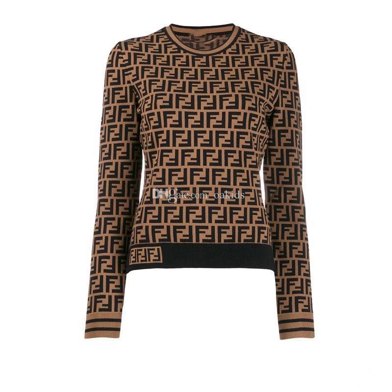 2020 Designer de Luxo Womens Sweater Lady -Pescoço botão manga comprida Cardigan Sweater Oversize Luxo Womans Roupa Mulheres Jumper