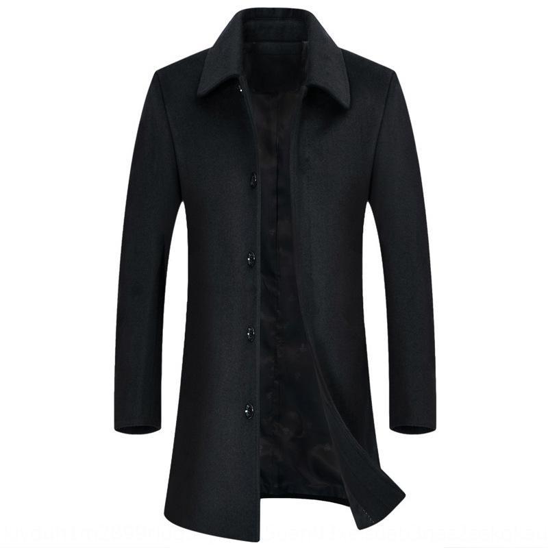 grande tamanho dos homens de meia-idade lã Windbreaker roupas de lã casaco de lã nova meados de comprimento blusão de lã casaco do pai