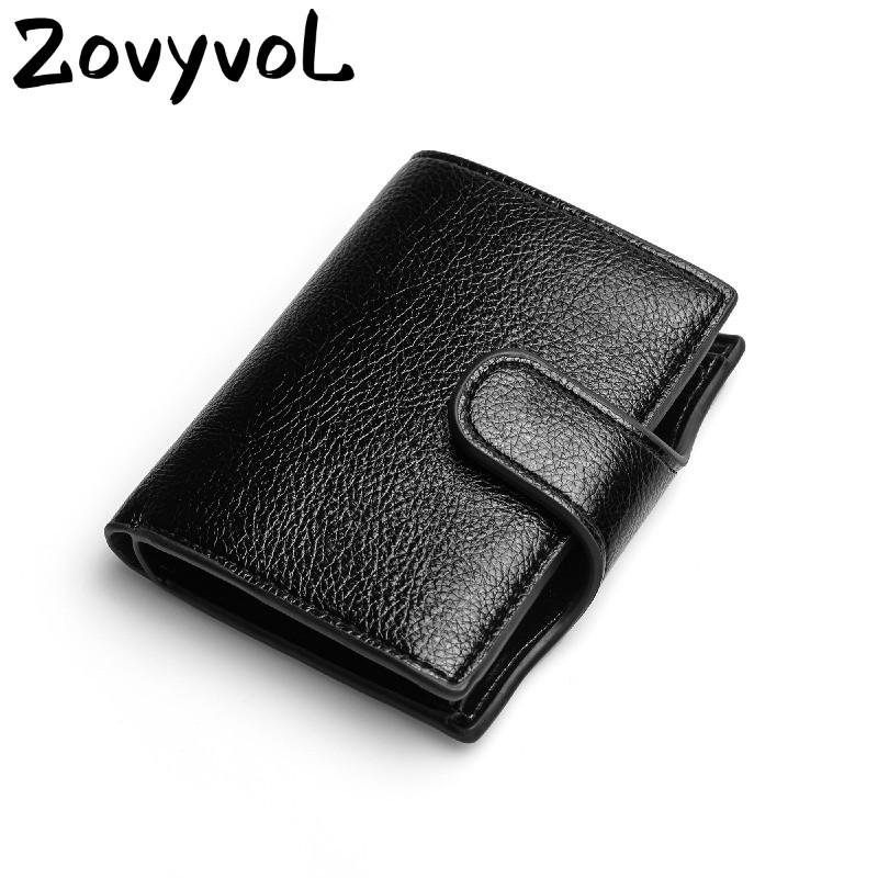 Zovyvolto Nuovo 2020 Women Portafoglio Small Card Uomo Slim in pelle Borsa Vintage Ladies PU Custodia Caso Unisex Smart Solid Solid Holder Holder TePVS