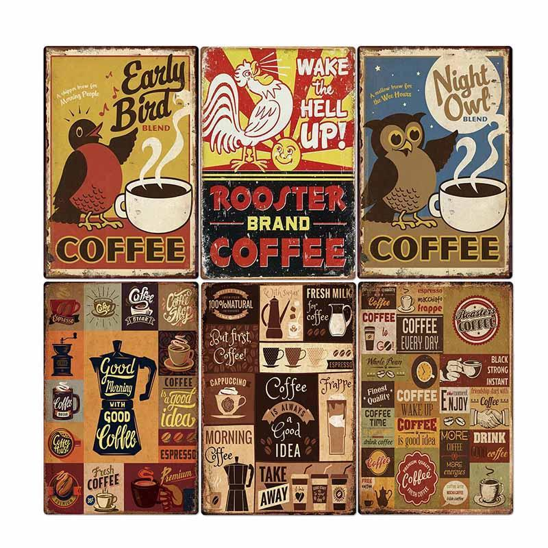 Sign Bar Decor Plaque Plate Vintage Pub Poster Coffee Wall Retro Decorative Club Cafe 2030cm Kitchen Metal Home HGtuV
