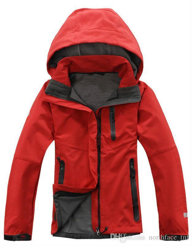 하이킹 캠핑 스키 다운 Sportswea 야외 겨울 여성 후드 SoftShell 재킷 패션 에이펙스 슈퍼맨 방풍 방수 열